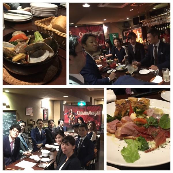 6月の社内食事会の様子 @肉とワイン 心斎橋Saluteさん